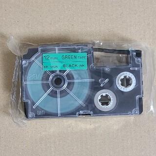 カシオ(CASIO)のCASIO ネームランド テープ 緑 12mm(オフィス用品一般)