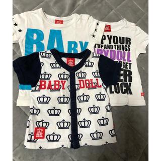 ベビードール(BABYDOLL)のジャンク品 ベビードール Tシャツ 3枚セット 80(Tシャツ)