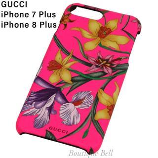 Gucci - 【GUCCI】グッチ フラワー柄 iPhone7/8Plusケース