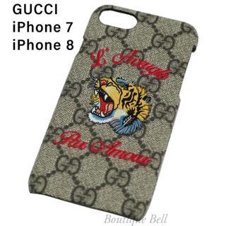 Gucci - 【GUCCI】グッチ GGスプリーム 虎柄 iPhone7/8ケース