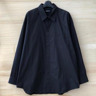 バレンシアガ(Balenciaga)の19ss BALENCIAGA スモールロゴ シャツ ブラック(シャツ)