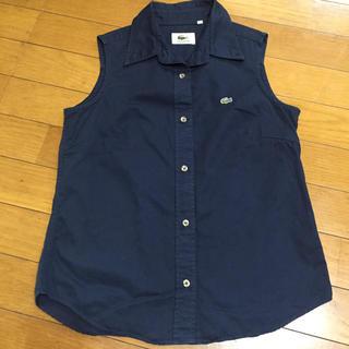 ラコステ(LACOSTE)のラコステ  ノースリーブ  シャツ  38(シャツ/ブラウス(半袖/袖なし))