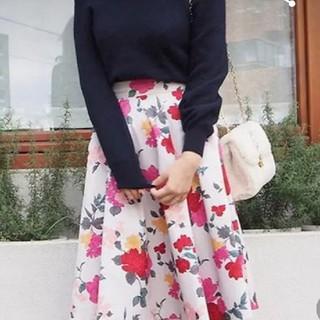トランテアンソンドゥモード(31 Sons de mode)の花柄 フレア スカート(ひざ丈スカート)