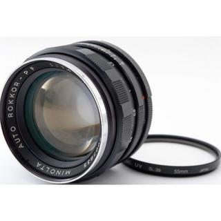 コニカミノルタ(KONICA MINOLTA)の良好♪☆明るい単焦点‼☆ MINOLTA ROKKOR-PF 58mm 1.4(レンズ(単焦点))