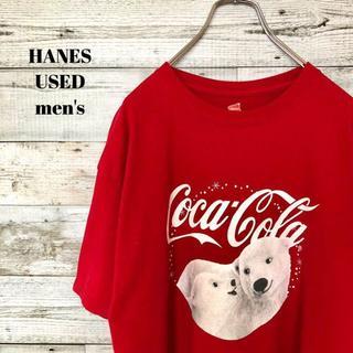 ヘインズ(Hanes)のUS輸入 HANES ヘインズ メンズ 半袖Tシャツ coca-cola L(Tシャツ/カットソー(半袖/袖なし))