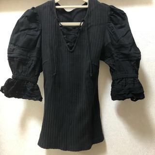 スライ(SLY)のパフスリーブ リブ トップス(Tシャツ(半袖/袖なし))
