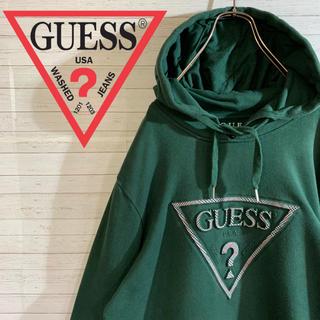 ゲス(GUESS)の【GUESS】ゲス 人気カラー チェック柄 デカロゴ プルオーバーパーカー(パーカー)