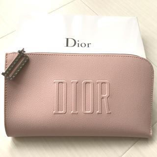 ディオール(Dior)のディオール Dior ポーチ ピンク レザー調 ノベルティ 非売品 チャーム 箱(ポーチ)