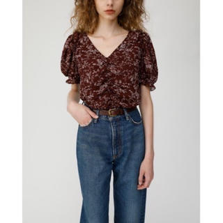 moussy - VINTAGE FLOWER PUFF SLEEVE トップス