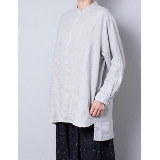 nest Robe - ネストローブ リネンバンドカラープルオーバーシャツ