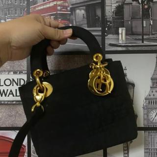 ディオール(Dior)のヴィンテージ クリスチャンディオール レディディオール カナージュ ミニ(ハンドバッグ)