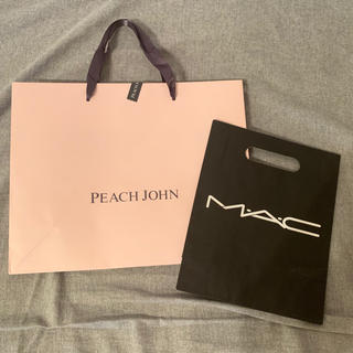 ピーチジョン(PEACH JOHN)の持ち帰りに使用したのみ★PEACH JOHN&MAC ショップ袋(ショップ袋)
