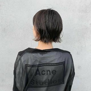 Acne Studios/反転ラベル付きTシャツ ロゴTシャツ ウィメンズ L(Tシャツ(半袖/袖なし))