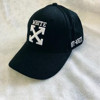 オフホワイト(OFF-WHITE)のお勧め オフホワイトOFF-WHITE キャップ 帽子 ブラック(キャップ)