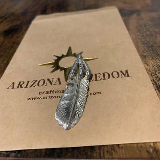 アリゾナフリーダム(ARIZONA FREEDOM)のアリゾナフリーダム 60mm イーグルクロー 付き シルバー フェザー(ネックレス)