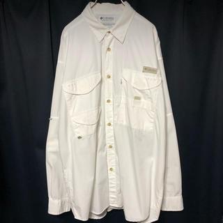コロンビア(Columbia)の古着 90's Columbia PFG フィッシングシャツ ホワイト(シャツ)