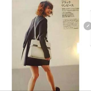 ドゥロワー(Drawer)のyoko chan バックリボンプリーツワンピース 黒白 ブラック 40ホワイト(ひざ丈ワンピース)