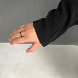 新品 20SSMaison Martin Margiela 925 ブラック リ(リング(指輪))