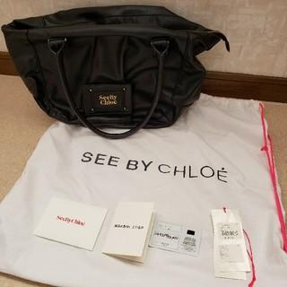 クロエ(Chloe)の【SeeByChloe】ハンドバッグ★ブラック★used品(トートバッグ)