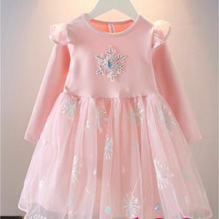 【新品】Disnyディズニーアナ雪 エルサワンピースドレス 100サイズ