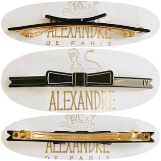 アレクサンドルドゥパリ(Alexandre de Paris)のアレクサンドルドゥパリ リボンバレッタ ブラック 黒(バレッタ/ヘアクリップ)
