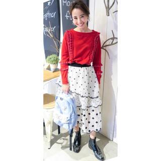チェスティ(Chesty)のchesty scallop dot skirt(ロングスカート)