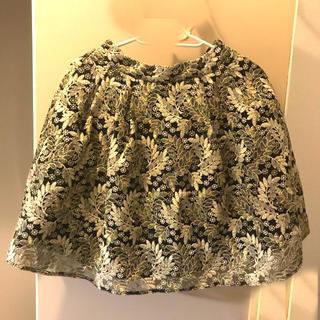 リリーブラウン(Lily Brown)のLily brown スカート フリーサイズ グリーン(ひざ丈スカート)