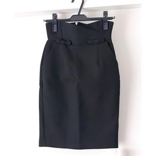 スナイデル(snidel)の【新品】スナイデル ペンシルスカート 黒(ひざ丈スカート)