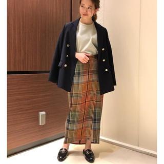 デミルクスビームス(Demi-Luxe BEAMS)の新品未使用タグ付き CINOH / 別注 チェック ラップスカート(ひざ丈スカート)