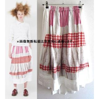 コムデギャルソン(COMME des GARCONS)の美品 2018SS コムデギャルソン コムコム 転写 フリル ロング スカート(ロングスカート)