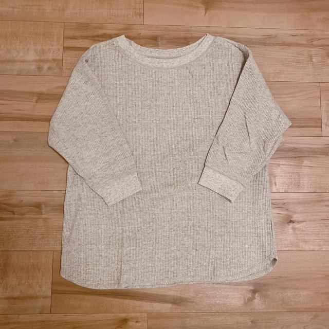 UNIQLO(ユニクロ)のユニクロ ワッフルT(七分袖) レディースのトップス(カットソー(長袖/七分))の商品写真