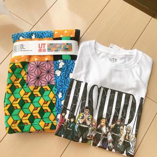 UNIQLO - 鬼滅の刃 Tシャツ タオル ユニクロ GU 柱 着物 130 胡蝶 しのぶ
