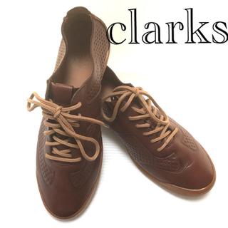 クラークス(Clarks)のClarks クラークス スニーカー ブラウン25.5cm(ドレス/ビジネス)