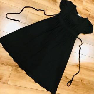 アーモワールカプリス(armoire caprice)のフィフィーユ ワンピース T1 黒 無地(ひざ丈ワンピース)