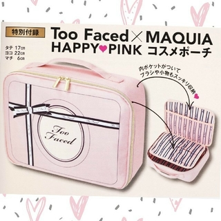 Too Faced - MAQUIA11月号付録Too Faced HAPPY♡PINKコスメポーチ