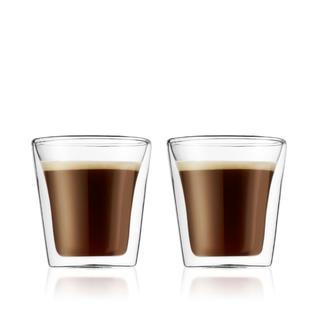 ボダム(bodum)のダブルウォールグラス 0.1リットル 4個(グラス/カップ)