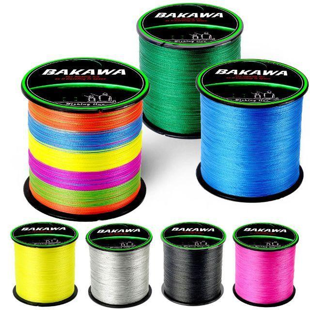 BAKAWA PEライン 4本編み 300m イエロー 2.0# 40LB スポーツ/アウトドアのフィッシング(釣り糸/ライン)の商品写真