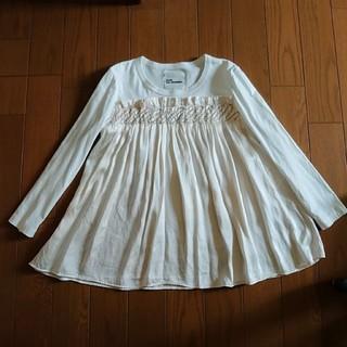 ノワール ケイニノミヤ オフホワイト シルク × 綿 トップス(カットソー(長袖/七分))
