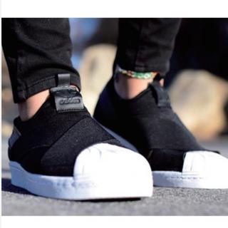 アディダス(adidas)のadidas アディダス SS スリッポン BZ0112 BLK/BLK/BLK(スニーカー)