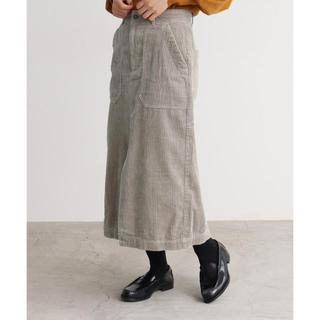 Dot&Stripes CHILDWOMAN - 2018AW CHILD WOMAN コーデュロイ スリットスカート