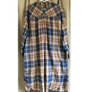 レプシィム(LEPSIM)のLEPSIM チェック シャツ ワンピース 羽織り(ロングワンピース/マキシワンピース)
