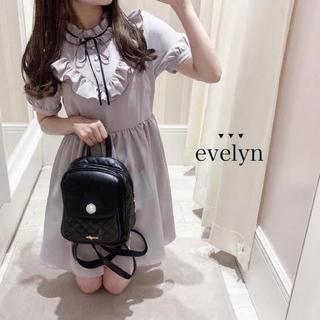 evelyn - evelyn ビジューリュック ブラック ノベルティ