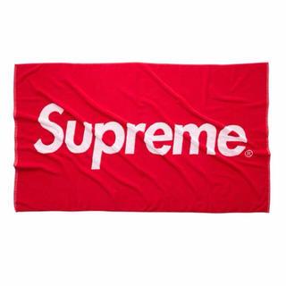 シュプリーム(Supreme)の supreme 12ss box logo beachtowel ビーチタオル(タオル/バス用品)