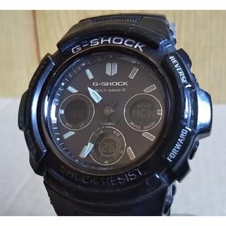 ジーショック(G-SHOCK)の訳有り CASIO G-SHOCK AWG-M100BW 電波 ソーラー 腕時計(腕時計(アナログ))