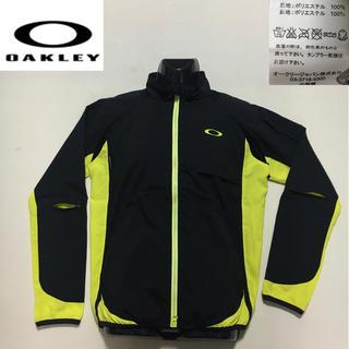 オークリー(Oakley)のオークリー ◆フロント ジップ ナイロン ジャケット◆ブラック×イエロー L(ウエア)