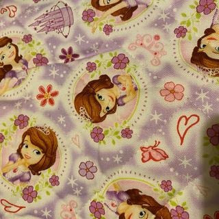 ディズニー(Disney)のプリンセスソフィア  キルティング生地  ハギレ(生地/糸)