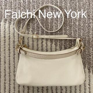 ファルチニューヨーク(falchi New York)のFalchi New York イタリアンレザー牛革ショルダーバッグ アイボリー(ショルダーバッグ)