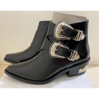 TOGA - TOGA PULLA Metal belt boots 36 トーガ