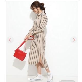 ViS - vis 鎌倉シャツ ストライプ ワンピース