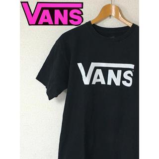 ヴァンズ(VANS)のバンズ vans ロゴt ビッグロゴ 黒 M(Tシャツ/カットソー(半袖/袖なし))